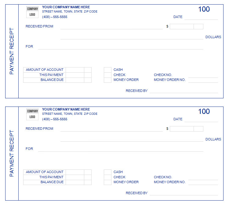 Sample Payment Receipt Form_001