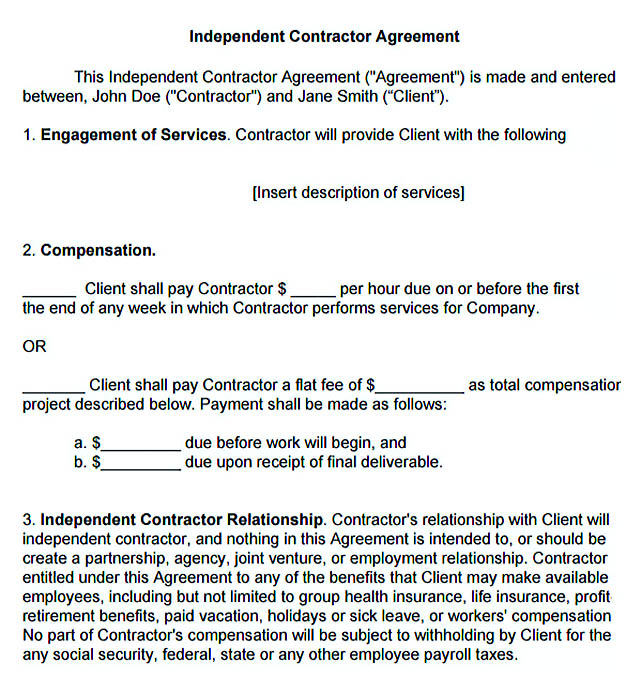 Subcontractor Agreement Template For Successful Contractor Company