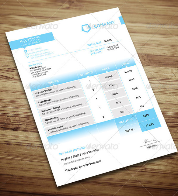 Simple Invoice Template Microsoft Word