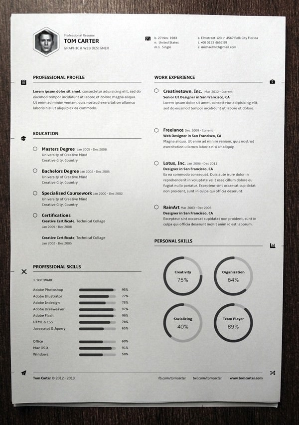 Simple Resume Template vol3