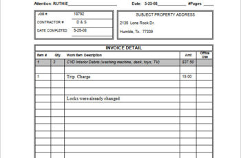Small Business Invoice Template Free