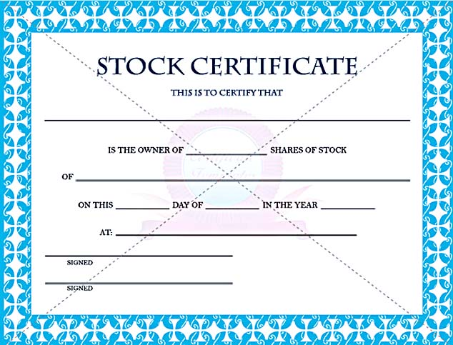 Stock certificate template free in word and pdf for Share certificate template
