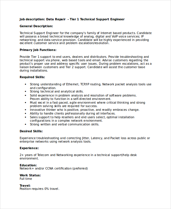using the technical resume template and how to write one