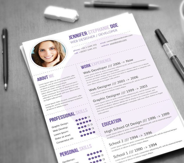 Web Designer Developer Resume Template