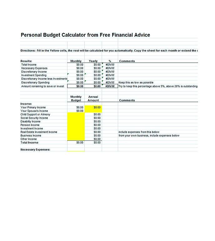budget template pdf