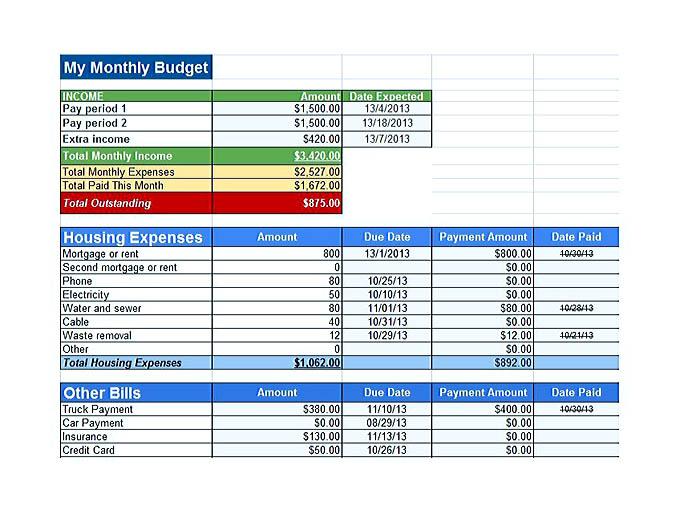 budget template word document