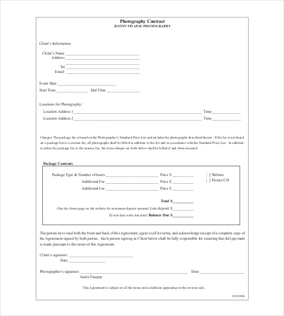 event-photography-contract-template Vendor Contract Letter Template on vendor booth contract template, vendor contract template for events, sponsorship template letters, vendor contract forms,