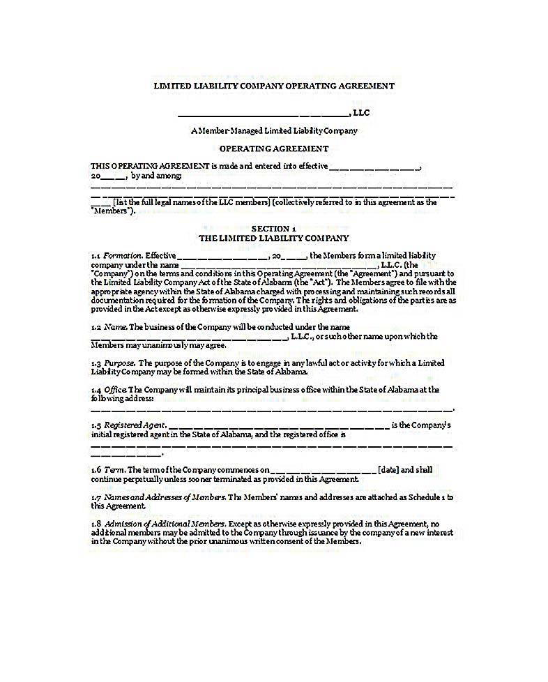 23+ LLC Operating Agreement Template