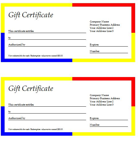 gift certificate template download