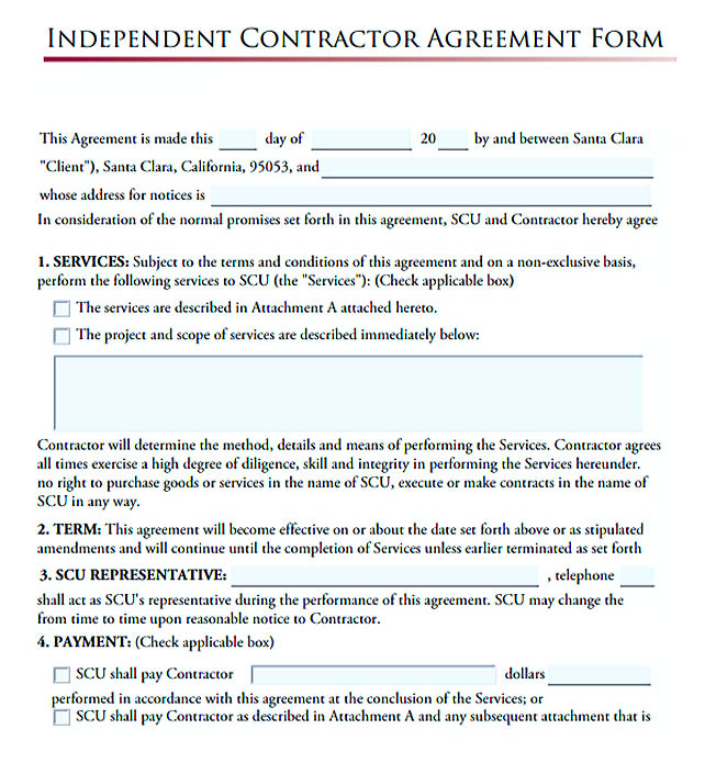 11 subcontractor agreement template for successful contractor company independent contractor agreement form altavistaventures Choice Image