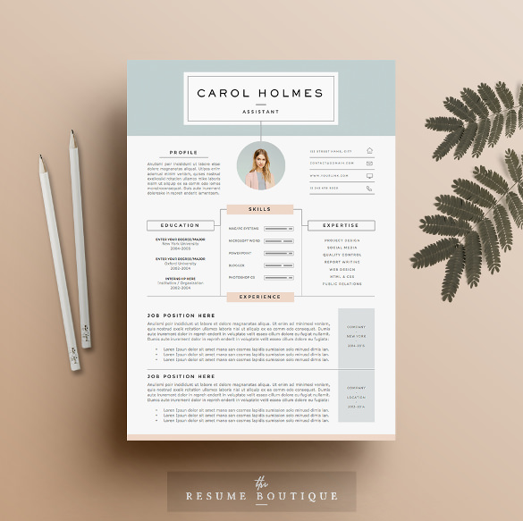 infographic Resume Template 4 Page Doc