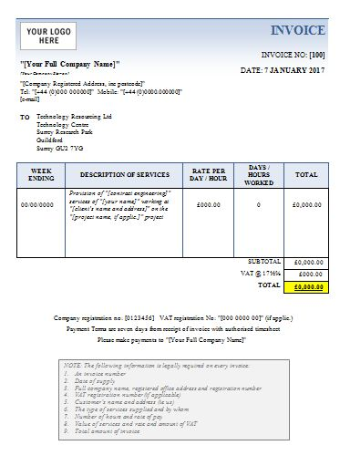 invoice template basic word