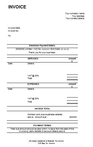 invoice template rev