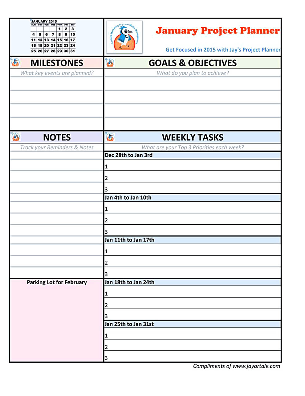 project plan template pdf