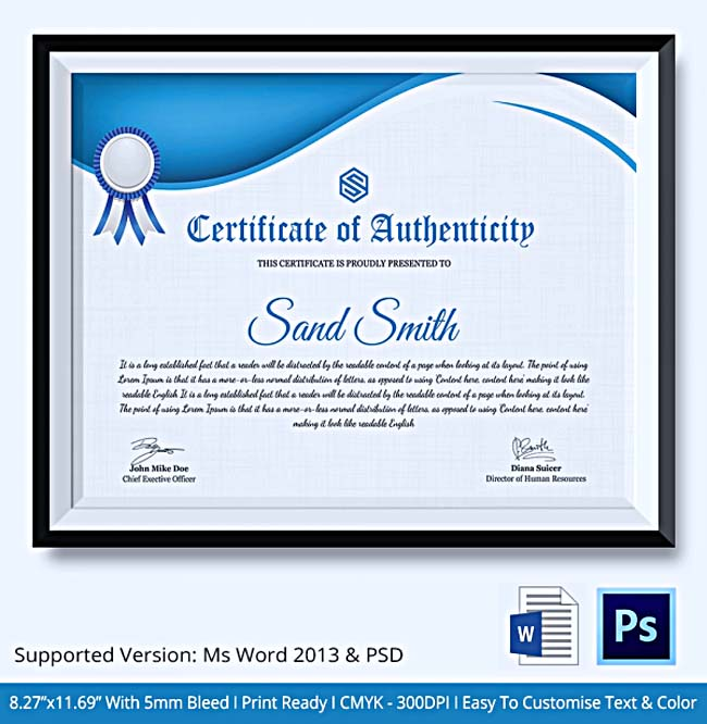 Certificate of authenticity template psd choice image certificate of authenticity template psd image collections certificate of authenticity template psd choice image certificate of yelopaper