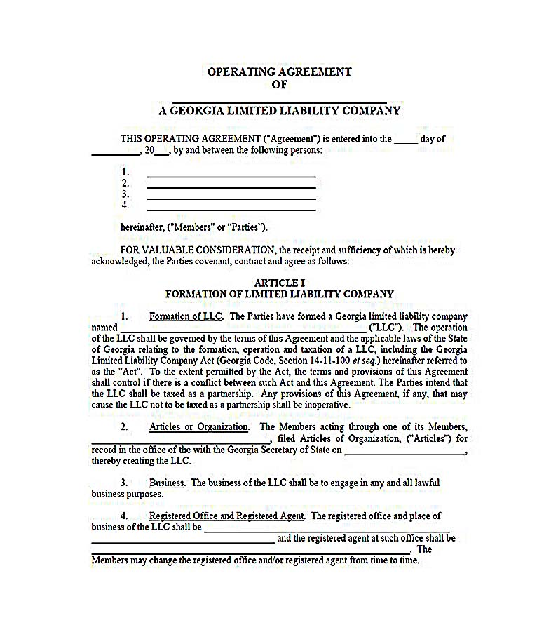 texas llc operating agreement