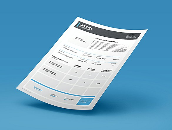 Adobe Invoice Indesign templates