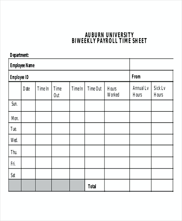 Bi Weekly Payroll templates