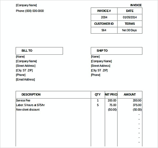 Billing Invoice templatess