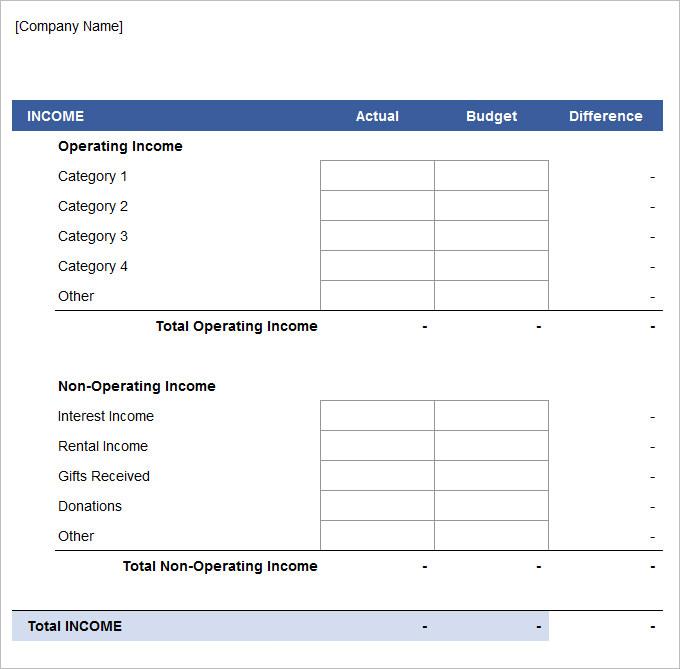 Business Marketing Budget Plan Template