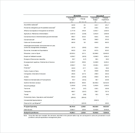 Capital Expenditure Budget Template Example Format