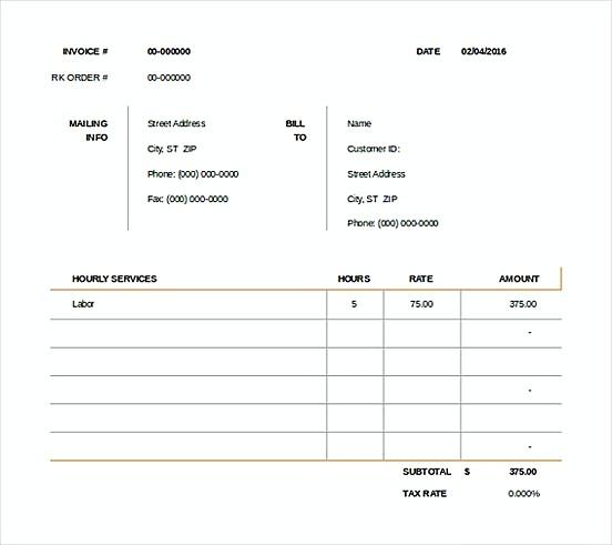 Consult Invoice templatess