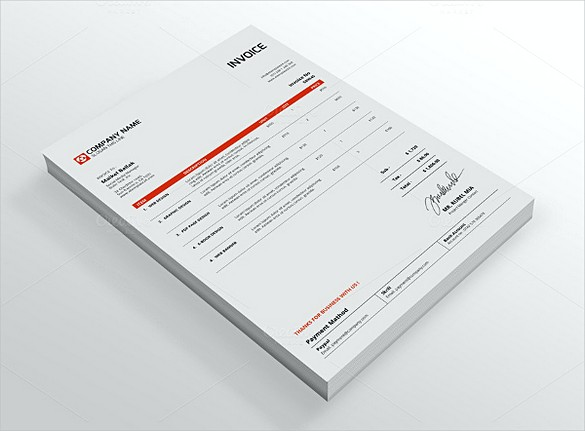 Creative Indesign Invoice templates
