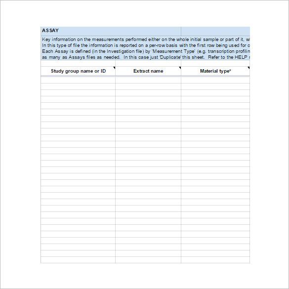 Data Descriptor Worksheet Template