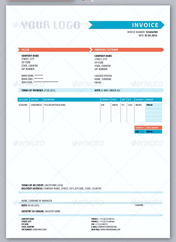 Delivery Invoice templates