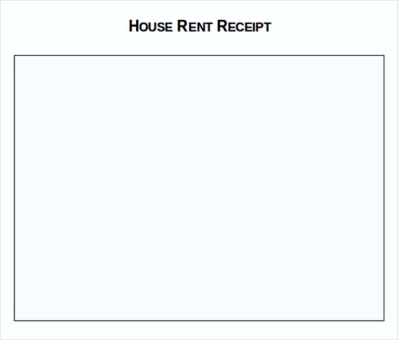 Rent Invoice Template – Format of House Rent Receipt