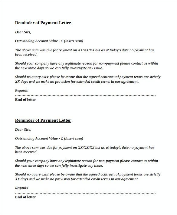 Invoice reminder template due payment reminder letter altavistaventures Images
