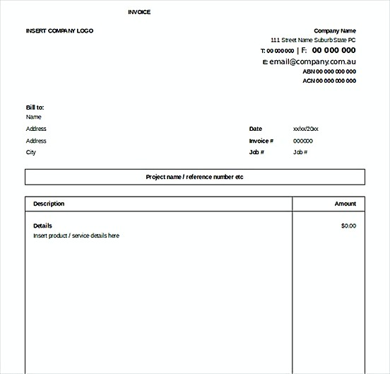 Excel Invoice Free templatess