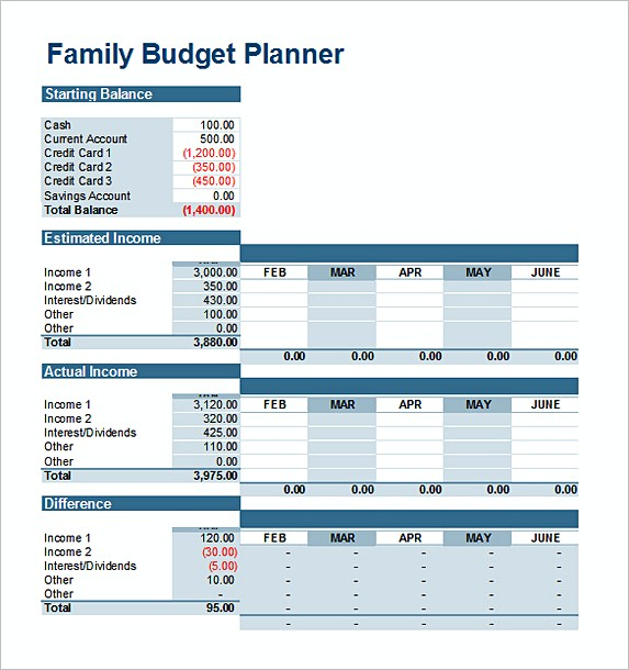 Basic Excel Budget Template