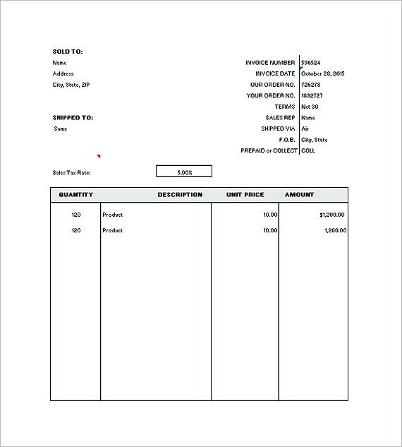 Free Generic Invoice templates