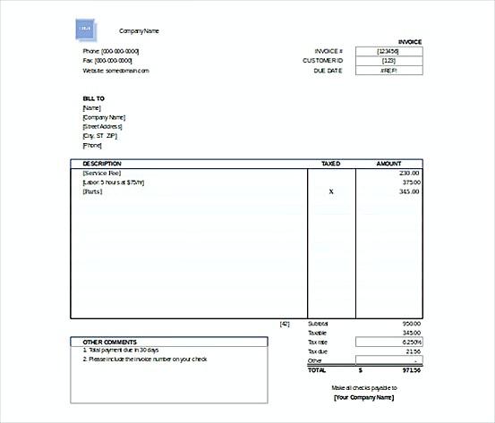 Free Invoice templatess