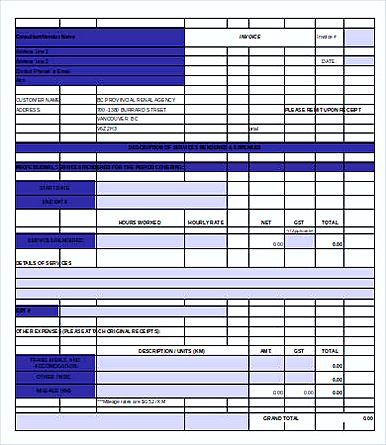 Free Printable Construction Invoice templates