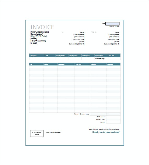 Generic Invoice Form. Invoice Format Doc Free Download Invoice