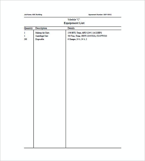 Captivating HVAC Agreement Invoice Templates