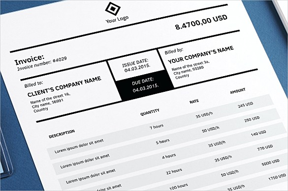 Indesign Business Invoice templates