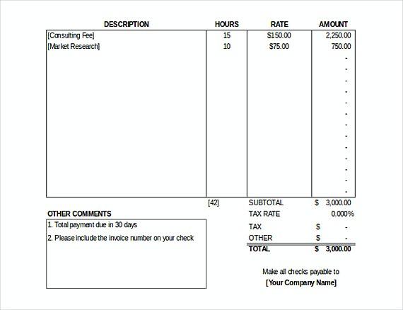 Invoice templates Free