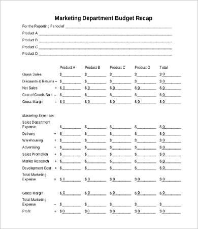 departmental budget template. Black Bedroom Furniture Sets. Home Design Ideas