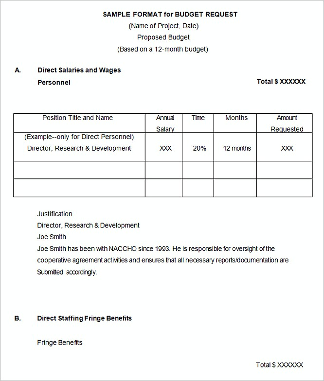 Mentorship Project Sample Budget Proposal Template