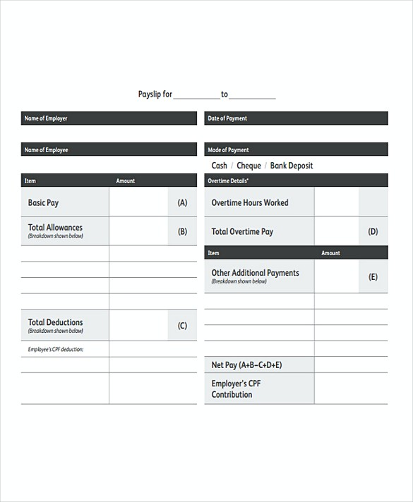 Monthly Payroll templates
