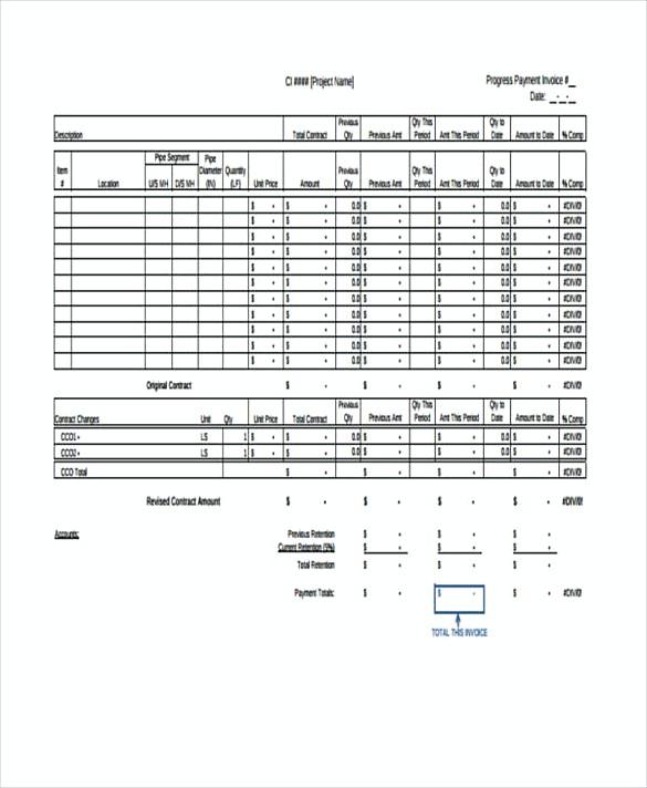 Progress Invoice