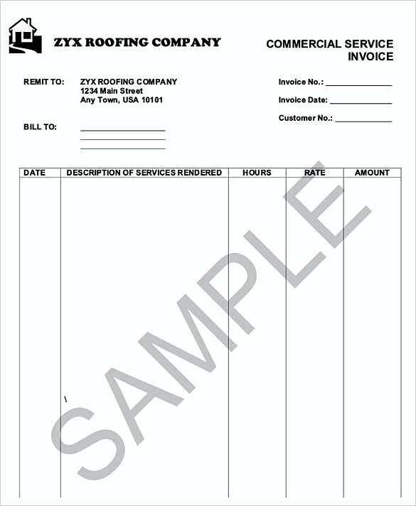 How To Plan Roofing Invoice Templates - Roofing invoice template