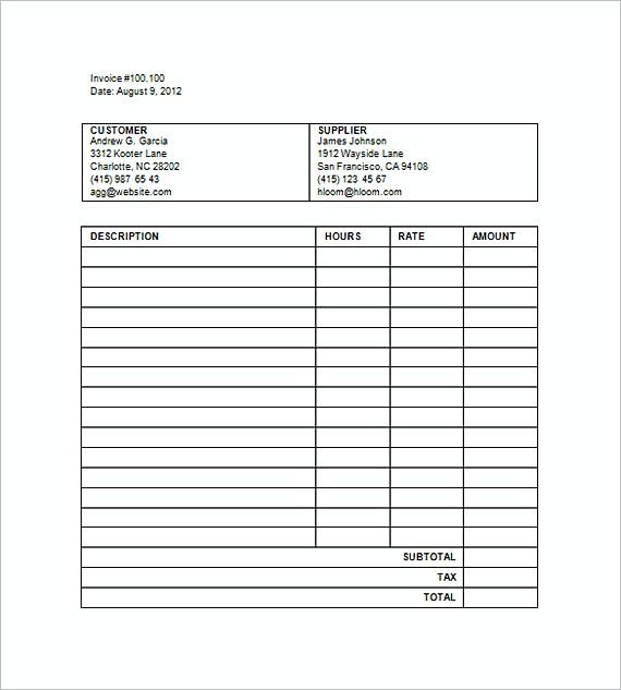Sample Legal Billing Invoice