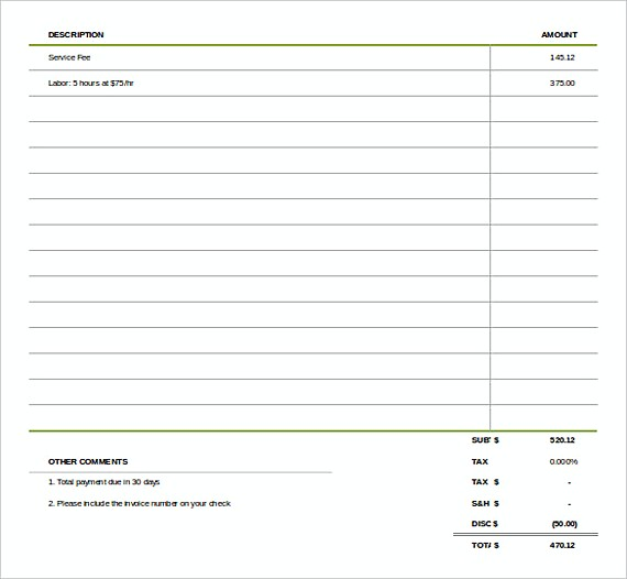 Simple Invoice templates_002