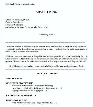 Small Business Advertising Budget