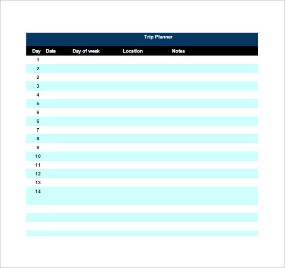 Travel Agent Planning Itinerary Sample Template