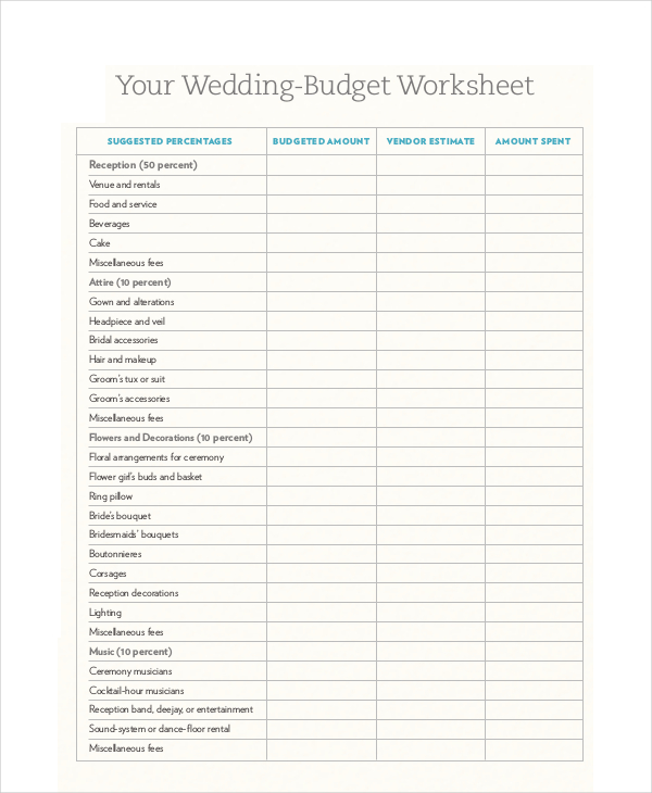budget forms pdf